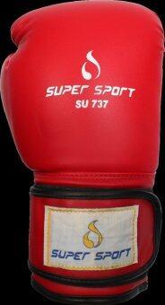 SUPERSPORT นวม นักมวย หนัง PU Boxing Gloves 16 Oz. รุ่น SU737 -สีแดง