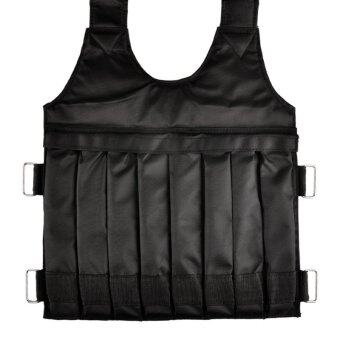 SUTENG 20kg Weighted Vest With Sholder Pads Comfortable WeightJacket Adjustable Sanda Exercise Boxing Sand Clothing (Empty) - 3