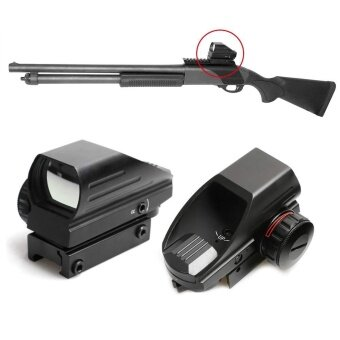 Tactical Holographic Reflex Red Green Dot Sight 4 Type Reticle for20mm Rails - intl