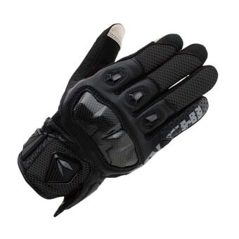 TAICHI RST411 Leather Motorcycle Gloves Black - INTL