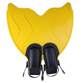 Teen Teenager Foot Swimming Fins Swimming Foot Flipper Diving Fins Diving Feet Tail Tail Monofin(Yellow) - intl