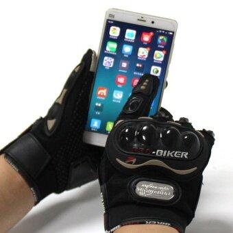 2561 ถุงมือ มอเตอร์ไซร์ รุ่นทัชสกรีน (Touched Screen Gloves) สะดวกทั้งตอนขี่ และ ตอนเล่นโทรศัพท์ ไม่ต้องถอดถุงมือมารับโทรศัพท์ - สีดำ/Black จำนวน 1 คู่
