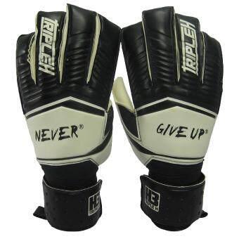 ซื้อ/ขาย ถุงมือผู้รักษาประตู ถุงมือประตูนิ้วกลม Training H3 Sport มี Finger Save ดำขาว เบอร์ 10