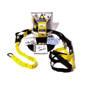 TRX Training Suspension อุปกรณ์เชือก ออกกำลังกาย Fitness -Black/Yellow