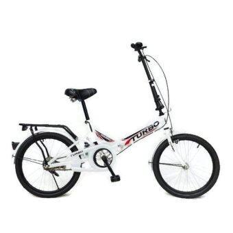 Turbo จักรยานพับได้ Turbo รุ่น Steel 20 นิ้ว สีขาว ตัวถังมีโช้ค