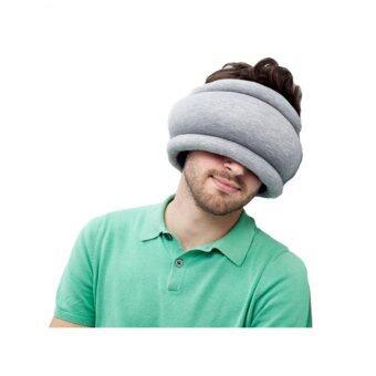 twilight Ostrich Pillow หมอนนกกระจอกรัดรอบหัว ( สีน้ำเงิน-เทา )