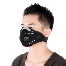 Unisex Anti-dust Anti-pollution Air Filter Breathable Face Mask for Cycling Riding Hiking - intl