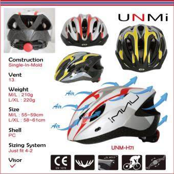 UNMI ปรับได้ หมวกกันน็อกจักรยาน UNM-H71 สีดำ-Size:L/XL - 3
