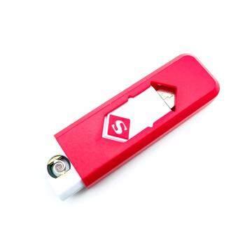 ไฟแช็ค ที่จุดบุหรี่ไฟฟ้าUSB (สีแดง)
