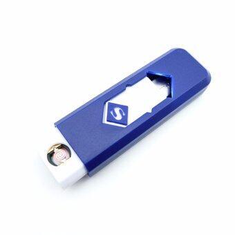 ไฟแช็ค ที่จุดบุหรี่ไฟฟ้าUSB (สีน้ำเงิน)