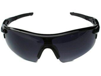 แว่นตาจักรยาน กันแสง UV 400 (สีเทา/ดำ) ฟรี ถุงผ้าใส่เเว่น (image 2)