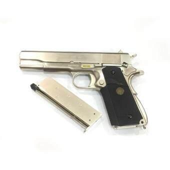 ปืนอัดแก๊ส WE M1911A สีเงิน