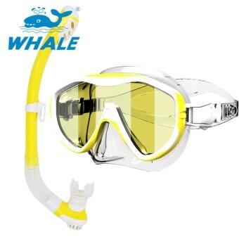 ปลาวาฬผู้ใหญ่ดำน้ำชุดป้องกันรังสียูวีหน้ากากว่ายน้ำหน้ากาก Freediving Snorkel ชุด