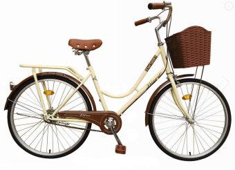 WINN De'sire จักรยานแม่บ้านวินเทจ ล้อ26\ (สีครีม)