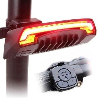 Wireless Remote Laser USB Bicycle Bike Indicator Signal LED Rear Tail Light - intl