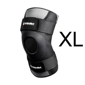 XKP Neoprene Elastic Open Patella Adjustable Knee Protectorkneepad Xl (Black) - intl