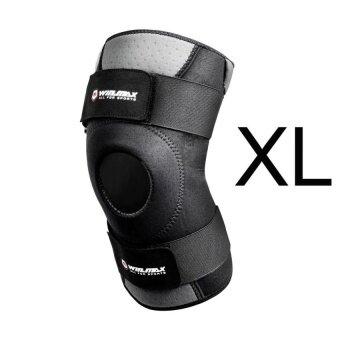 XKP Neoprene Elastic Open Patella Adjustable Knee Protectorkneepad Xl (Black) - intl
