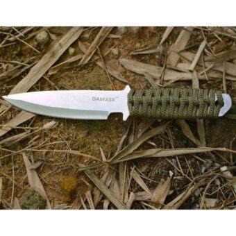 ประเทศไทย Y and L Support มีดขนาดเล็ก มีดตั้งแค้มป์ มีดพกสำหรับเดินป่า ด้ามหุ้มเชือกสีเขียว knife-D61-GREEN