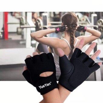 ซื้อ/ขาย YUEYAN ถุงมือฟิตเนส ถุงมือออกกำลังกาย Fitness Glove Weight Lifting Gloves Black ( Int:S)
