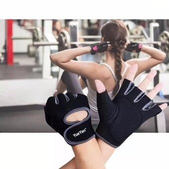 YUEYAN ถุงมือฟิตเนส ถุงมือออกกำลังกาย Fitness Glove Weight Lifting Gloves Gray ( Int:M)