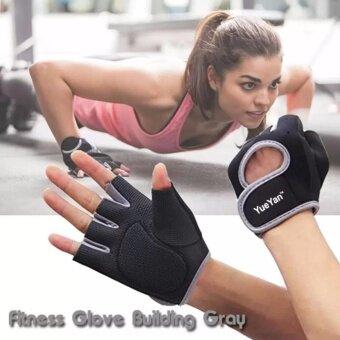 2561 YUEYAN ถุงมือฟิตเนส ถุงมือออกกำลังกาย Fitness Glove Weight Lifting Gloves Gray ( Int:L)