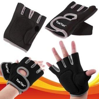 ประเทศไทย YUEYAN ถุงมือฟิตเนส ถุงมือออกกำลังกาย Fitness Glove Weight Lifting Gloves Gray ( Int:L)