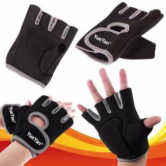 YUEYAN ถุงมือฟิตเนส ถุงมือออกกำลังกาย Fitness Glove Weight LiftingGloves Gray ( Int:M)
