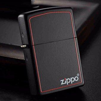Zippo 218ZB Red Border Black Matte