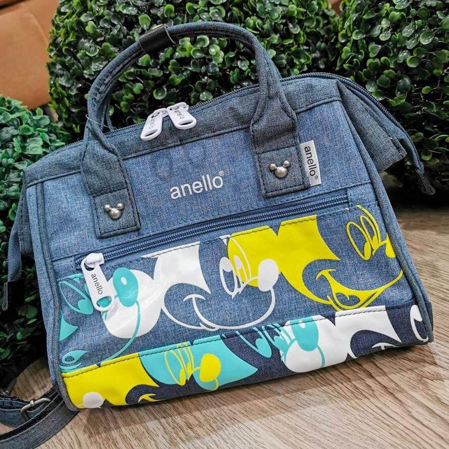 ตรัง [สินค้า Outlet] ANELLO MICKEY LIMITED EDITION SHOULDER BAG DT-G002 S  กระเป๋าสะพานมิกกี้เมาส์