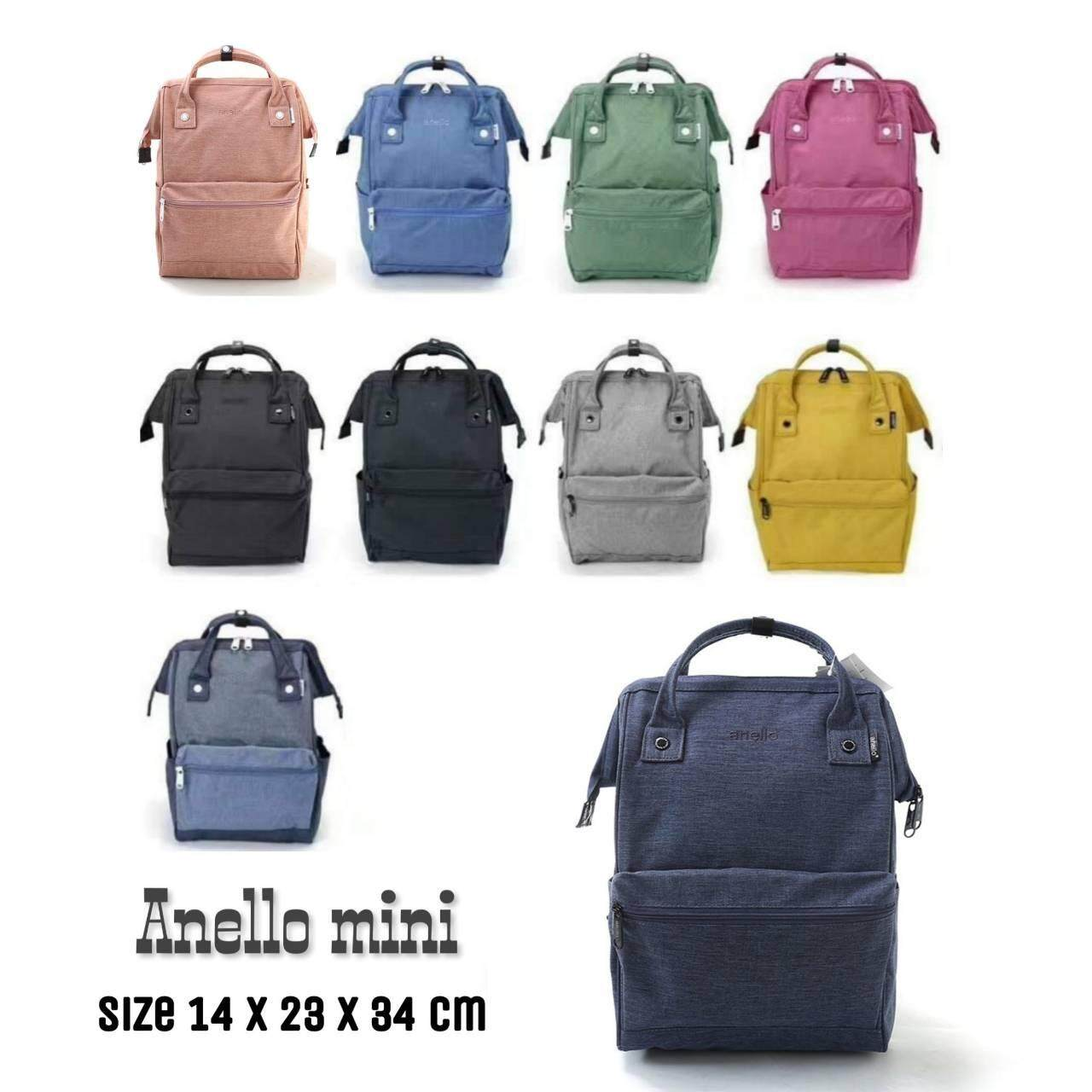 ยี่ห้อไหนดี  ตาก Anello Mini Backpack-Heat Tone Waterproof (NV)