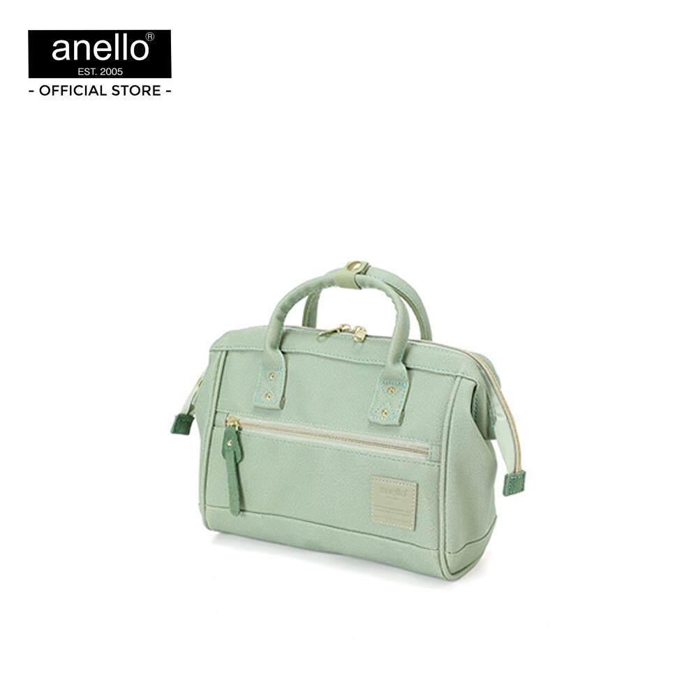 ยี่ห้อนี้ดีไหม  กระบี่ anello กระเป๋า สะพายสไคล์ MINI Boston ขนาด mini ถือได้ 2 แบบ_AT-H1021