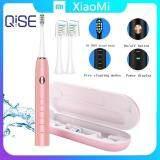 แปรงสีฟันไฟฟ้า ช่วยดูแลสุขภาพช่องปาก กระบี่ Xiaomi QISE S350 Electric Toothbrush แปรงสีฟันไฟฟ้า Waterproof IPX7 5 Modes 3 Intensities 36800 Strokes min 2 Pcs Rechargeable Ultrasonic Vibration Toothbrush 2 Replacement Heads