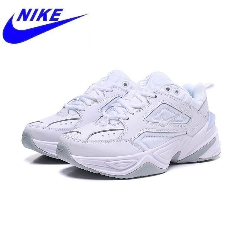 ขอนแก่น Nike Air Monarch The M2K Tekno ผู้ชายรองเท้าวิ่งรองเท้าสีขาว AO3108-100 36-45