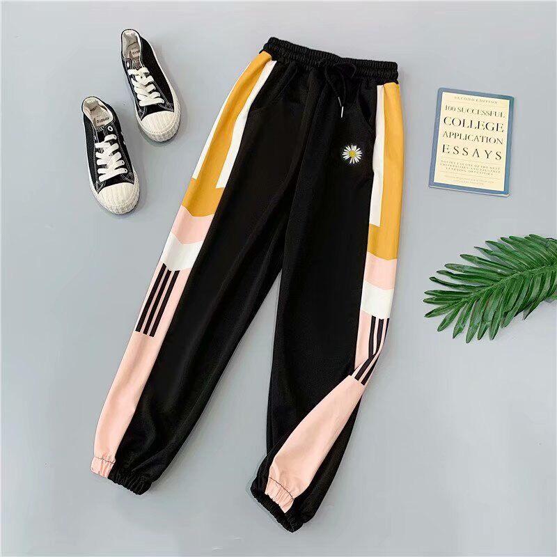 C กางเกงขายาวเเฟชั่น ลายทานตะวัน (ผู้หญิง ผู้ชายใส่ได้) กางเกงยืดได้เยอะ เนื้อผ้าดี สวมใส่สบาย (พร้อมส่งจ้า) (เก็บเงินปลายทางได้) รุ่น903
