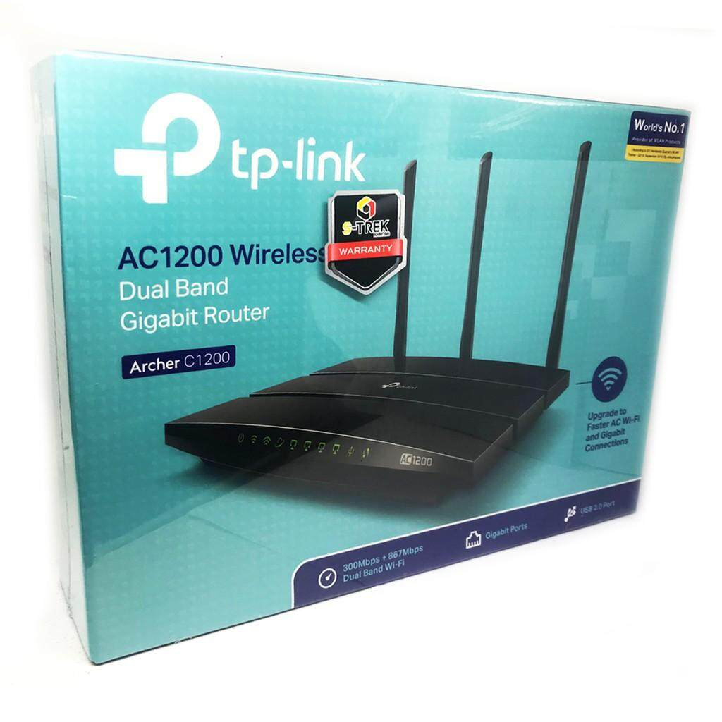 เก็บเงินปลายทางได้ TP-LINK ARCHER C1200 ส่งKERRYรับประกันศูนย์LIFETIME(ตลอดอายุการใช้งาน)AC1200 Gigabit Wireless DUAL BAND Wi-Fi Router
