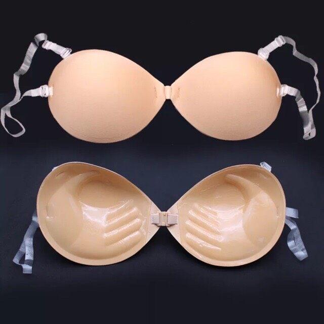 <Wa Clothing> บราดูมๆ 3cm รุ่นใหม่กาวเต็มไม่เว้นหัวนม เหนียวขึ้น รัดด้วยสายใสเด้งไม่หลุด