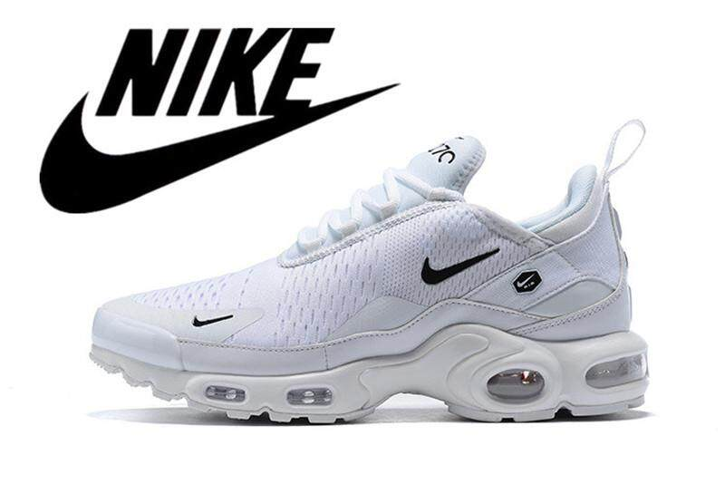 Nike Air Max Plus TN Men's Air Cushion Shoes Running Shoes Mesh Breathable White 40 46