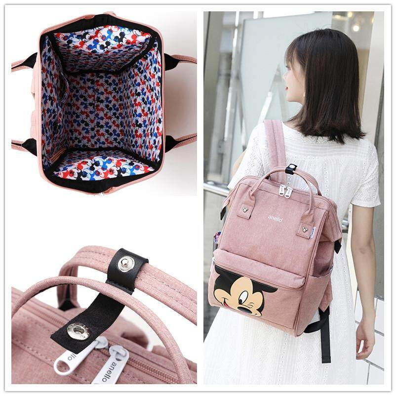 สอนใช้งาน  แพร่ กระเป๋า​ Anello Đisnēy 2019 Polyester Canvas Backpack Limited Edition​ (Regular​)​