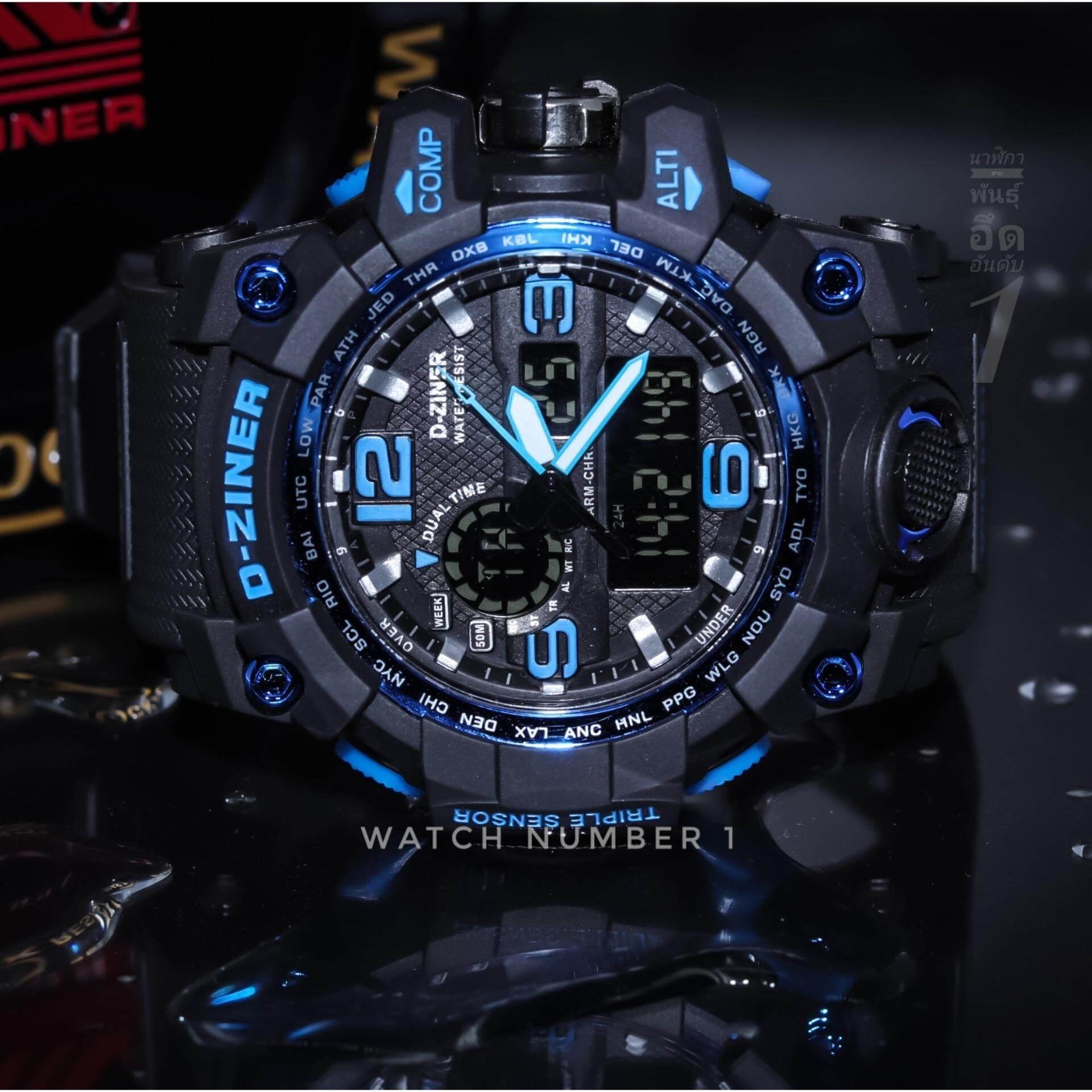 D-ZINER นาฬิกาผู้ชายสุดแกร่ง รุ่นใหม่ ผลิตปี 2019 กันน้ำ พร้อมกล่องเหล็กอย่างดี