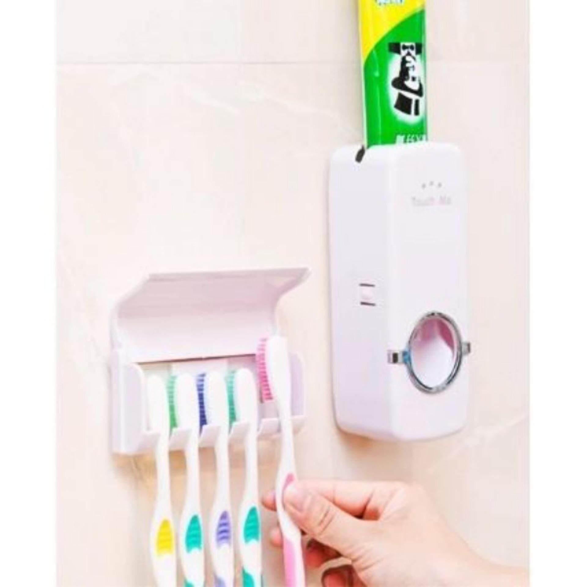 ที่บีบยาสีฟันอัตโนมัติ ที่แขวนแปรงสีฟัน จัดส่งฟรี Kerry Express