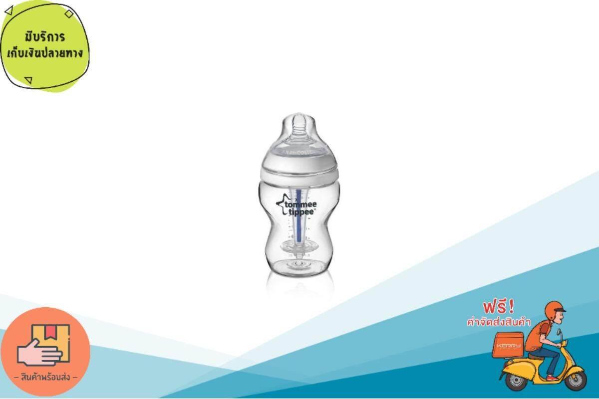 เก็บเงินปลายทางได้ ขวดนมป้องกันโคลิก Tommee Tippee Closer To Nature Anti Colic Plus 260ml/9oz Bottle ส่งฟรี Kerry