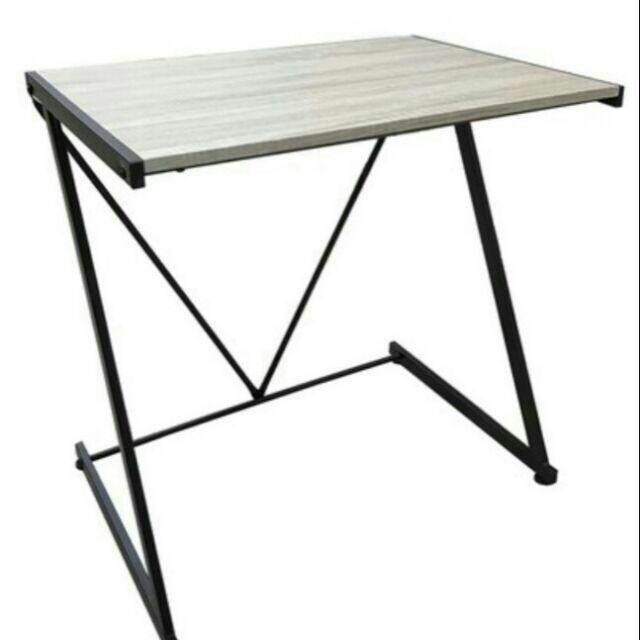 สุดยอดสินค้า!! ++ส่งฟรี KERRY++โต๊ะทำงาน ท็อปสีน้ำตาลลายไม้ โครงเหล็กพ่นสีดำ