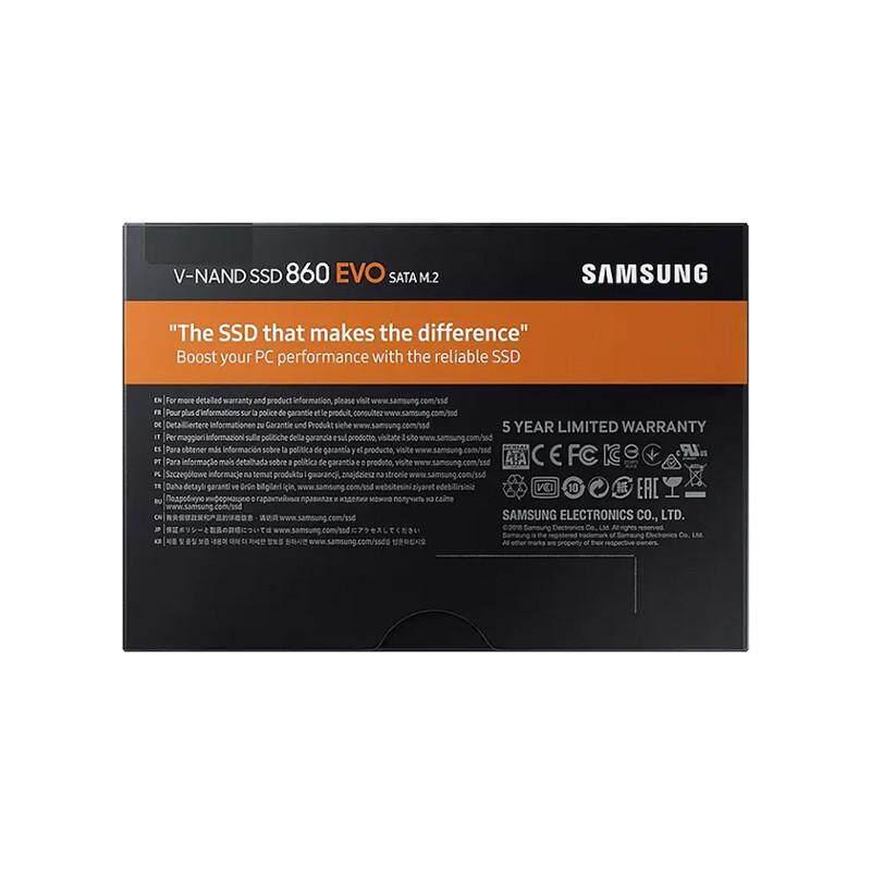 สุดยอดสินค้า!! SSD Samsung 860 EVO M.2 500GB ประกันศูนย์ไทย 5 ปี โดยSTREK ซัมซุง รุ่น MZ-N6E500BW ขนส่งโดยKerry Express