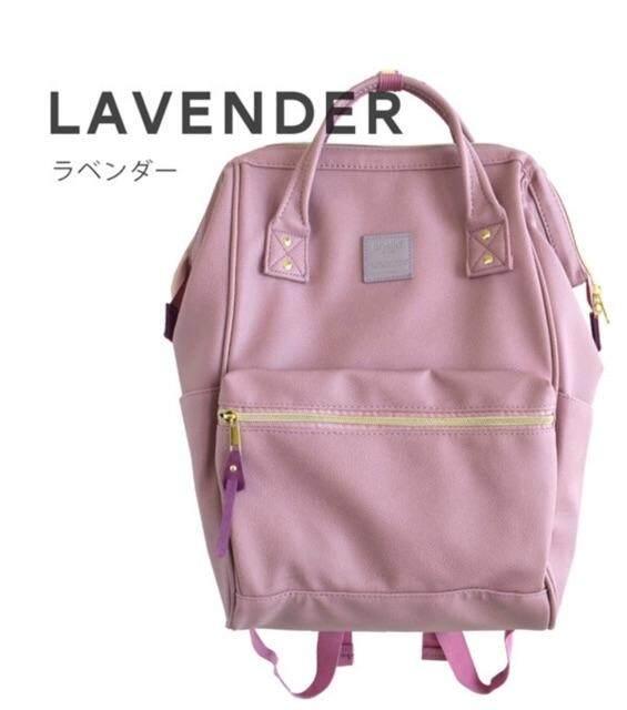 ยี่ห้อไหนดี  ปราจีนบุรี anello PU Leather ของแท้  กระเป๋าเป้สะพายหลังรุ่นหนังนิ่ม- สีม่วงลาเวนเดอร์ ไซส์คลาสสิค (กว้าง 34x สูง 40 หนา 20 cm  )