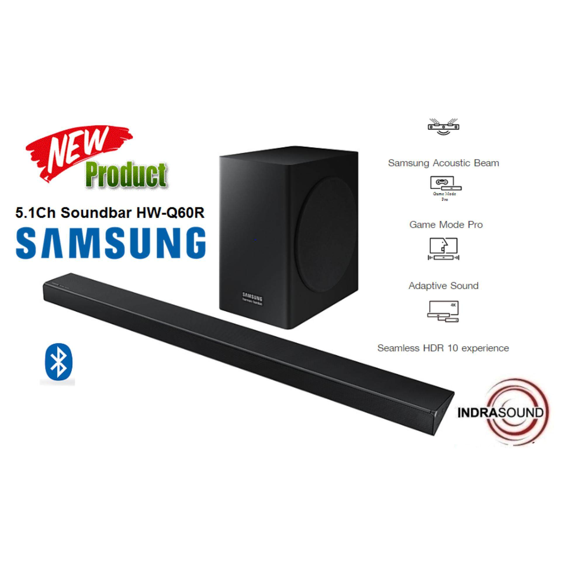ยี่ห้อนี้ดีไหม  น่าน Samsung Soundbar รุ่น HW-Q60R/XT 5.1Ch 360W Harman Kardon Collaboration Subwoofer Wireless Active