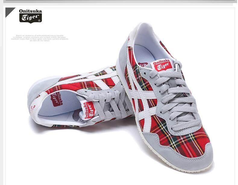 เก็บเงินปลายทางได้ Onitsuka Tiger รองเท้า ลำลอง ผู้หญิงโอนิซึกะ ไทเกอร์ Serano Red/Slight White  ++ของแท้100% พร้อมส่ง ส่งด่วน kerry++