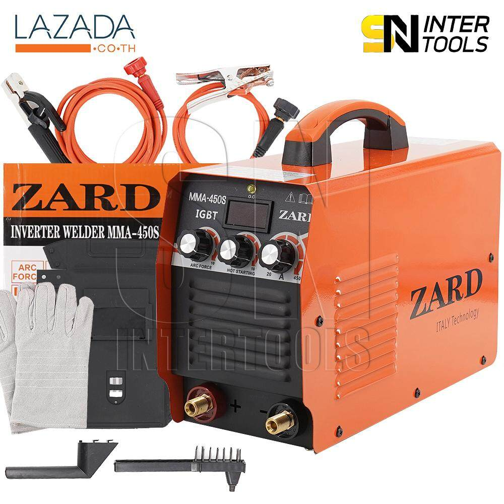 ZARD ตู้เชื่อมอินเวอร์เตอร์ Inverter IGBT MMA-450S รุ่นใหม่ 3 ปุ่ม Upgrade Edition สายเชื่อมยาวพิเศษ 5 เมตร *ITALY Technology*