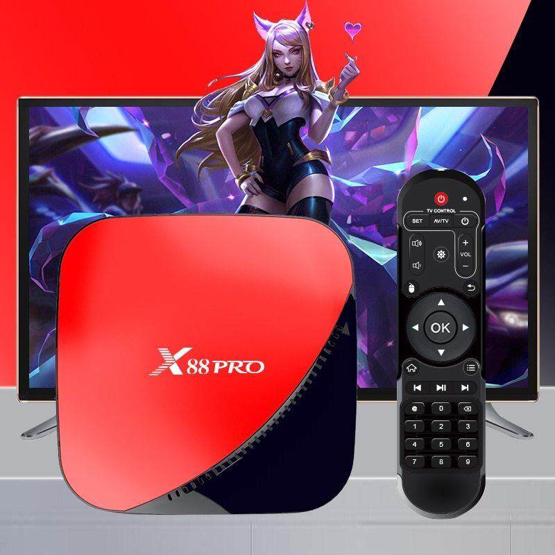 สินเชื่อบุคคลซิตี้  ลำปาง X88 Pro 64G Android 9.0 TV Box Rockchip RK3318 4 Core 2.4G&5G Wifi 4K HDR Set Top Box USB 3.0 Support 3D Movie