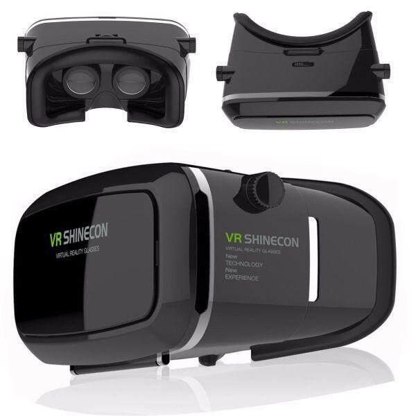 """เก็บเงินปลายทางได้ """"ส่งฟรี KERRY""""VR Shinecon แว่นตา 3 มิติเสมือนจริง Glasses 3D ดูหนัง หรือเกมส์ ผ่านมือถือแบบโลกเสมือนจริง(Black)"""