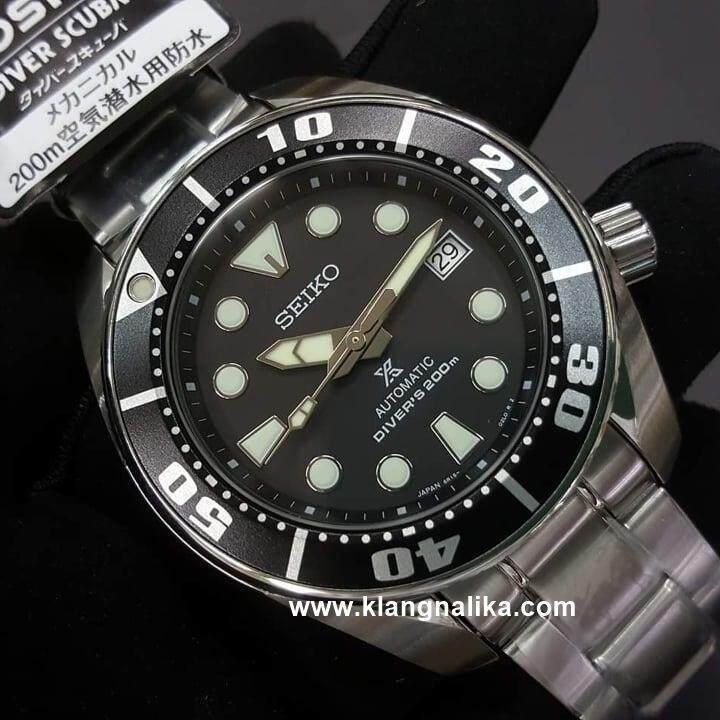 การใช้งาน  บุรีรัมย์ Seiko  นาฬิกาข้อมือ Prospex Black Sumo SBDC031J1